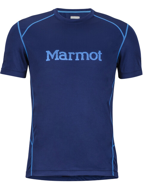 Marmot M's Windridge SS Shirt with Graphic Arctic Navy/French Blue